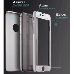 Coque Samsung Galaxy S6 Full protect 360 avec verre trempé intégré - Différent coloris